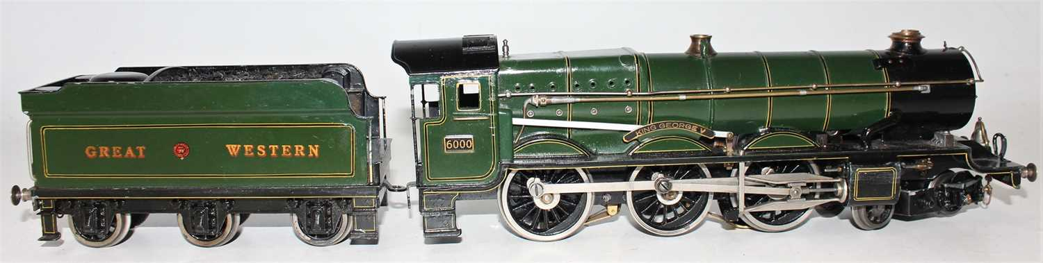 """Marklin for Bassett-Lowke O Gauge 4-6-0 Loco and Tender Great Western green """"King George V"""" No.6000, - Image 8 of 15"""
