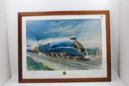 Framed and Glazed landscape print of Mallard on Stoke Bank to commemorate the 50th anniversary of