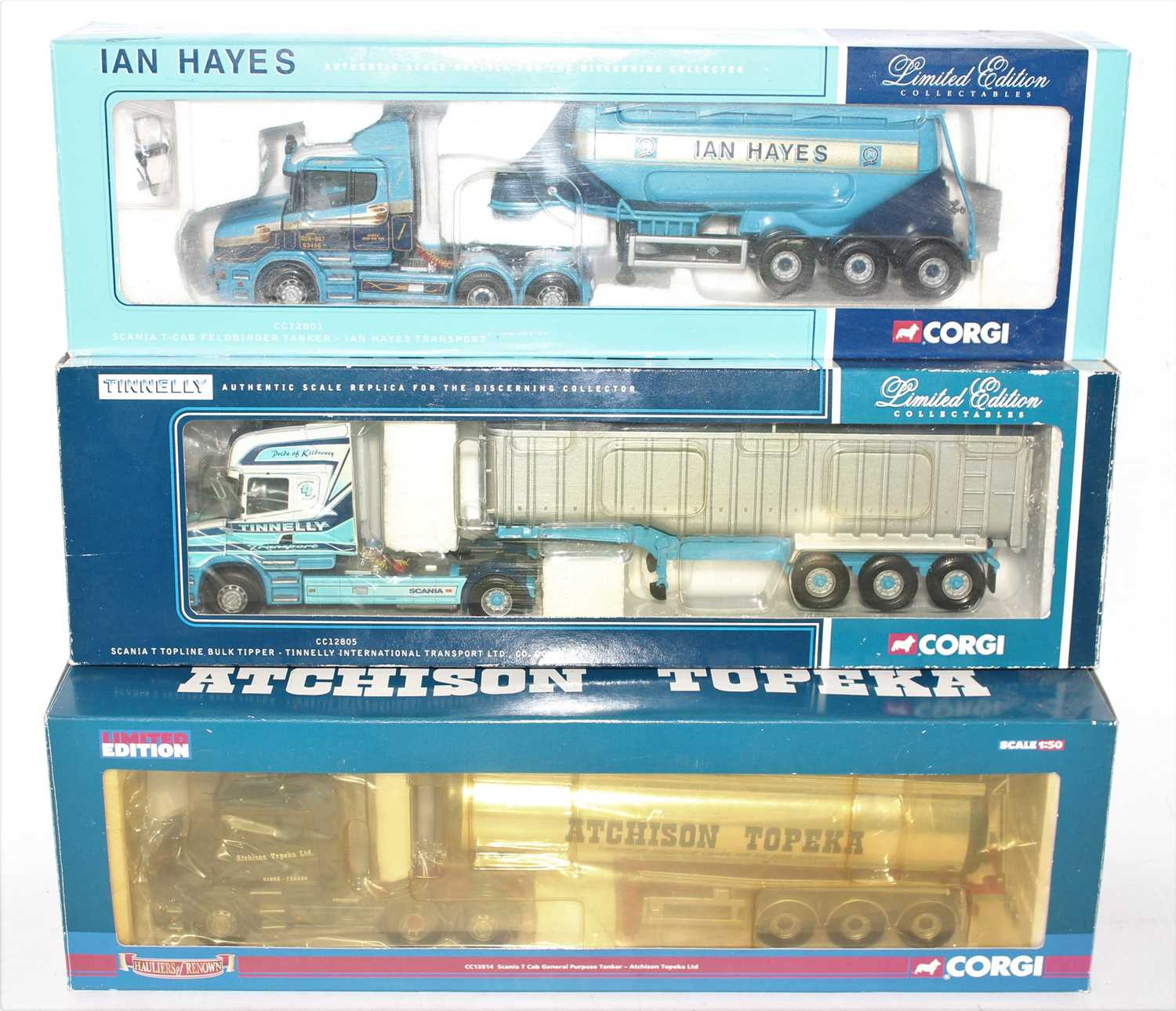 Three various boxed Corgi Hauliers of Renown 1/50 scale road transport diecasts, all housed in