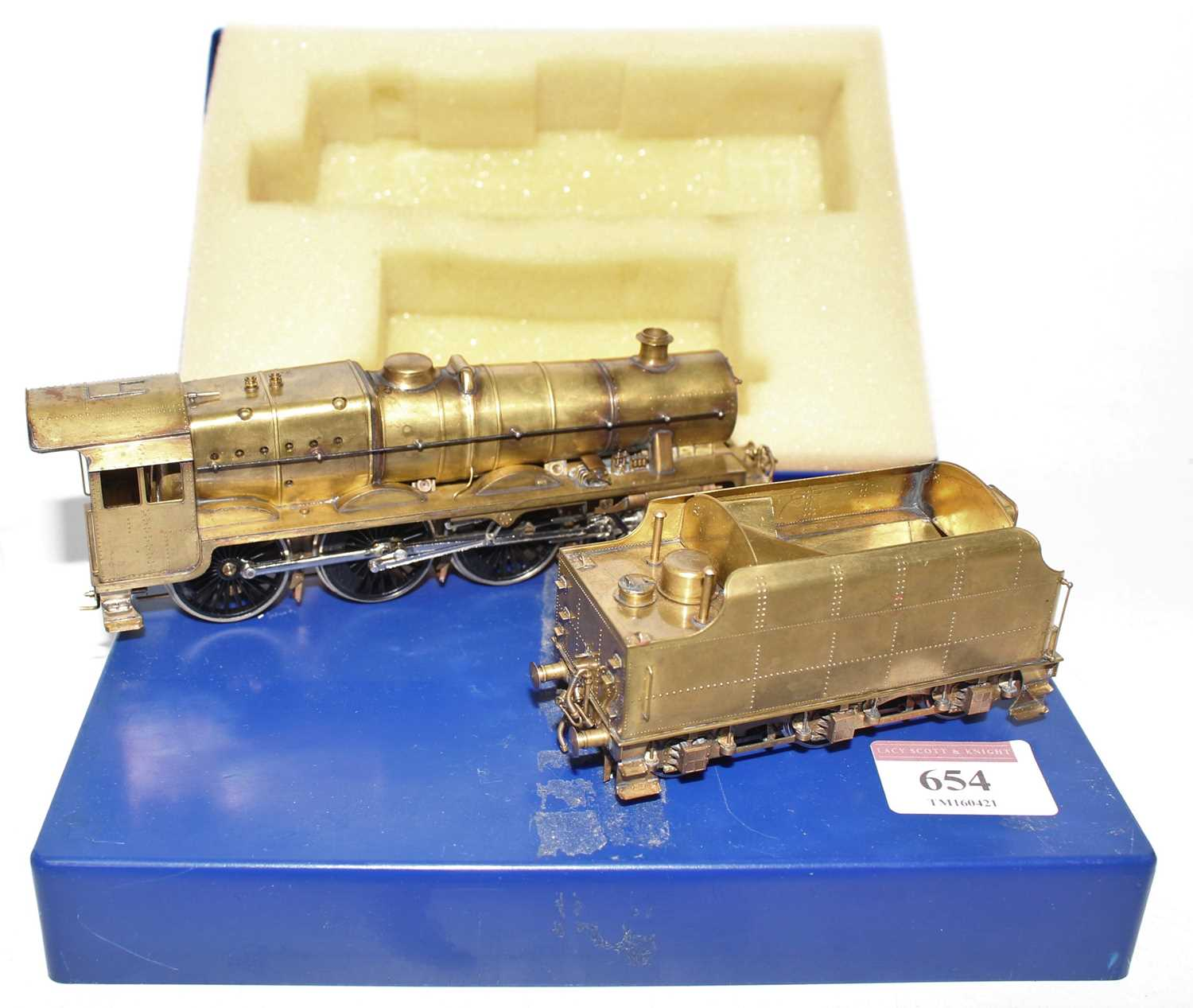 A 00 gauge superbly executed model in brass of an LMS/BR Jubilee 4-6-0 locomotive and tender - Image 2 of 2