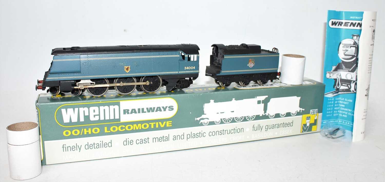 W2268 Wrenn SR Streamlined Bullied 4-6-2 loco & tender 'Yeovil' BR blue 34004, instructions (E-BNM).