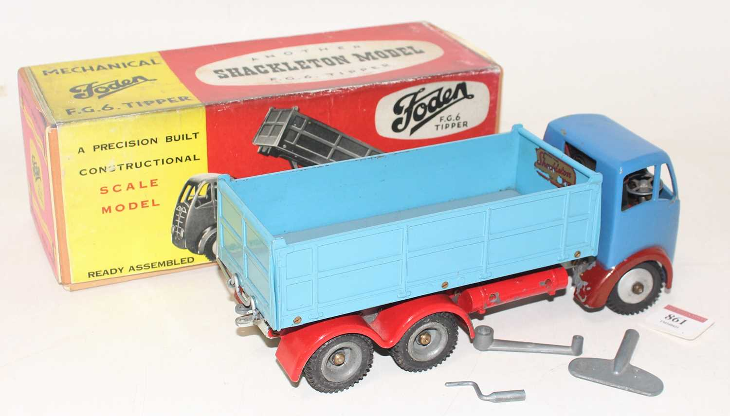 A Shackleton Models model of a Foden FG6 tipper truck comprising of two-tone blue body with - Image 2 of 2