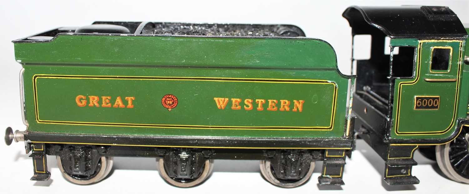 """Marklin for Bassett-Lowke O Gauge 4-6-0 Loco and Tender Great Western green """"King George V"""" No.6000, - Image 10 of 15"""