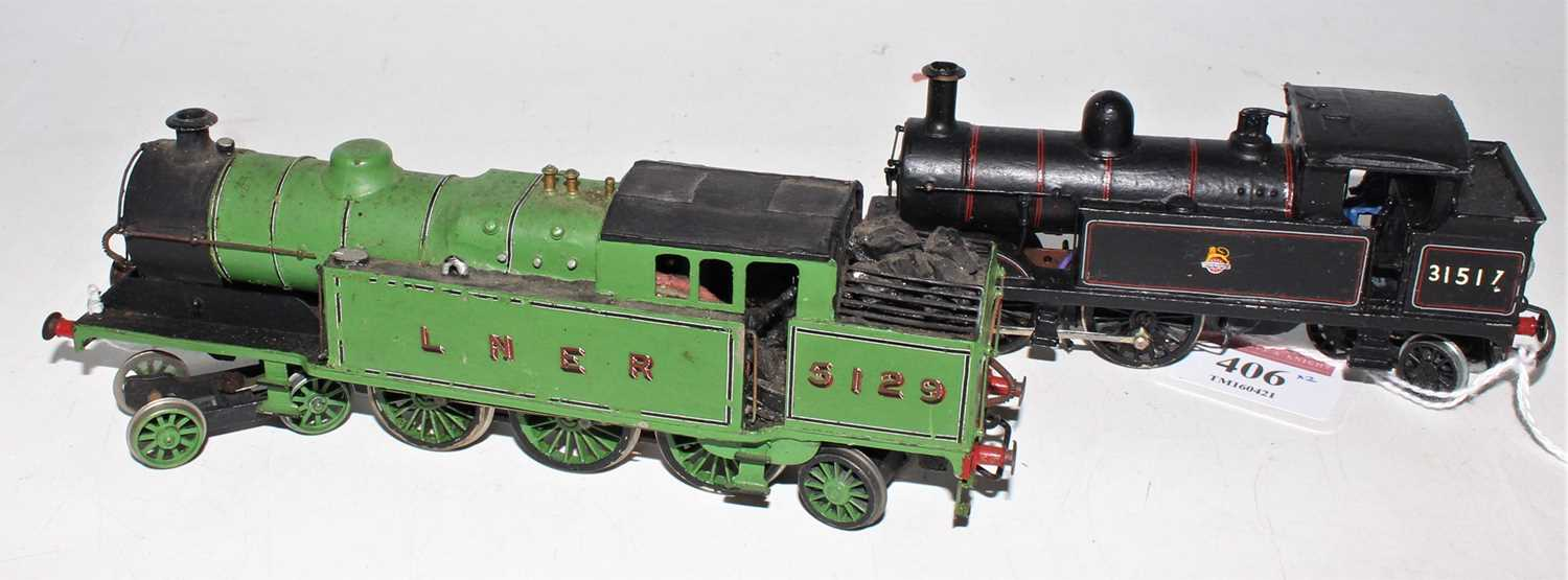 Two kit built tank locos: Craftsman LNER A5 4-6-2 No. 5129 lined green, with Wills Southern H 0-4- - Image 2 of 2