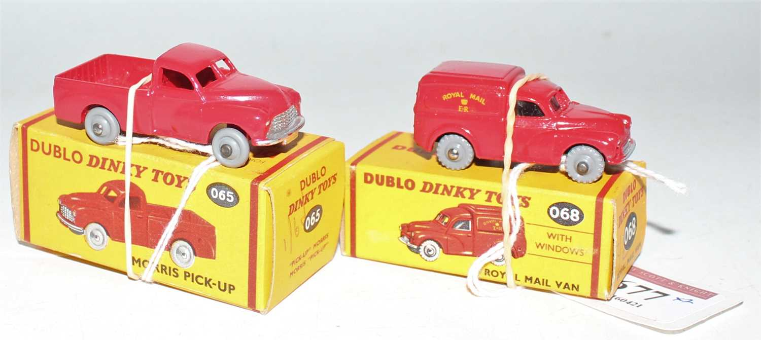 Two Dublo Dinky Toys, to include 068 Royal Mail Van, grey tread wheels (M-BNM) and No.065 Morris - Image 2 of 2