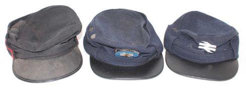3 Various British Railway Uniform Caps