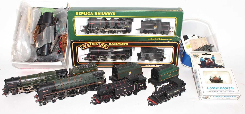 Tray of locomotives to include Replica Railways 61026 Ourebi (E-BG), Mainline 750096 (E-BG) Airfix