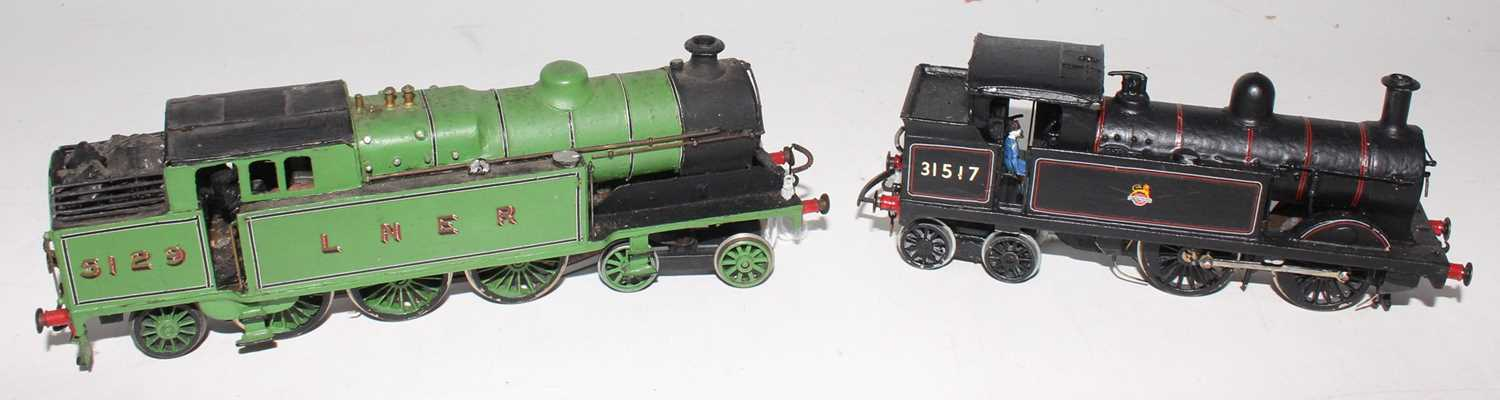 Two kit built tank locos: Craftsman LNER A5 4-6-2 No. 5129 lined green, with Wills Southern H 0-4-