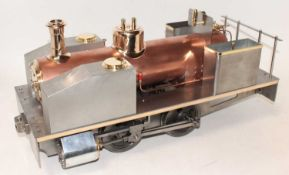Well engineered Reeves Castings, 5 inch gauge Dougal 0-4-0 Welshpool tank locomotive, un-painted but
