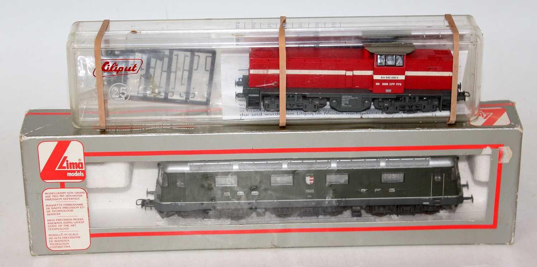"Lima Swiss SBB Re 6/6 Class 620 Bo-bo-bo electric locomotive No.11065 ""Uster"" (NM-BG) and a Lilliput"