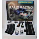 A Scalextric Rally Racing boxed gift set comprising of Subaru Impreza and Toyota Corolla, supplied