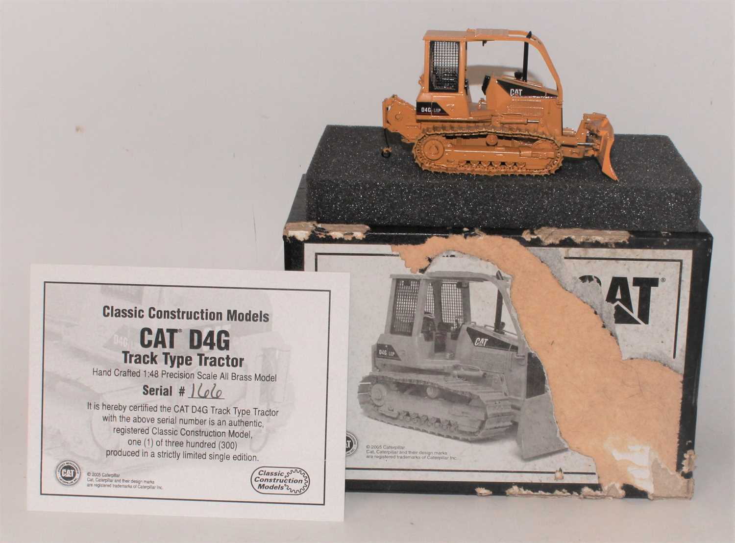 A Classic Construction Models (CCM) 1/48 scale all brass model of a Caterpillar D4G track type