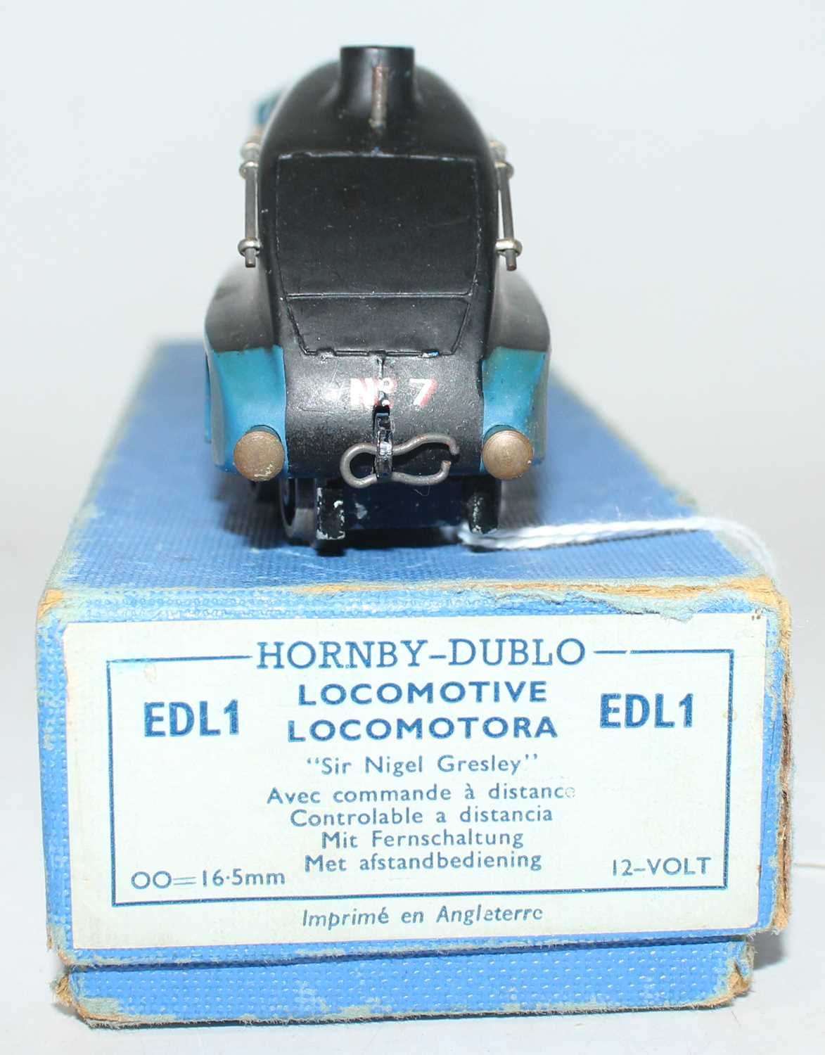 Hornby Dublo EDL1 4-6-2 A4 Locomotive Sir Nigel Gresley, blue, No.7 (VG-BVG) with unboxed LNER - Image 3 of 4