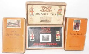 4 various Railway/Travel Puzzles, to include GWR, examples include Cathedral