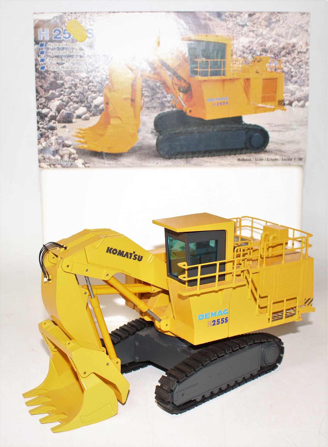 An NZG model No.442 1/50 scale boxed diecast model of a Demag Komatsu H255S hydraulic mining - Image 2 of 2