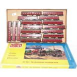 16 various loose Triang TT coaches all maroon examples to include Ref. Nos. W53111 and others