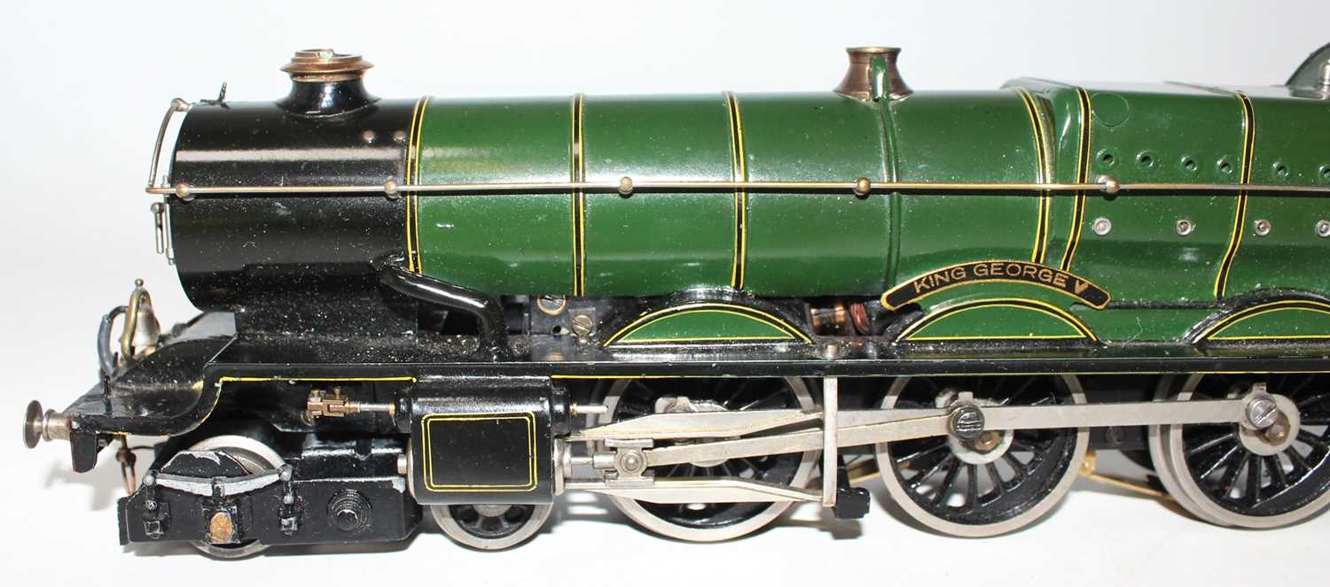 """Marklin for Bassett-Lowke O Gauge 4-6-0 Loco and Tender Great Western green """"King George V"""" No.6000, - Image 4 of 15"""