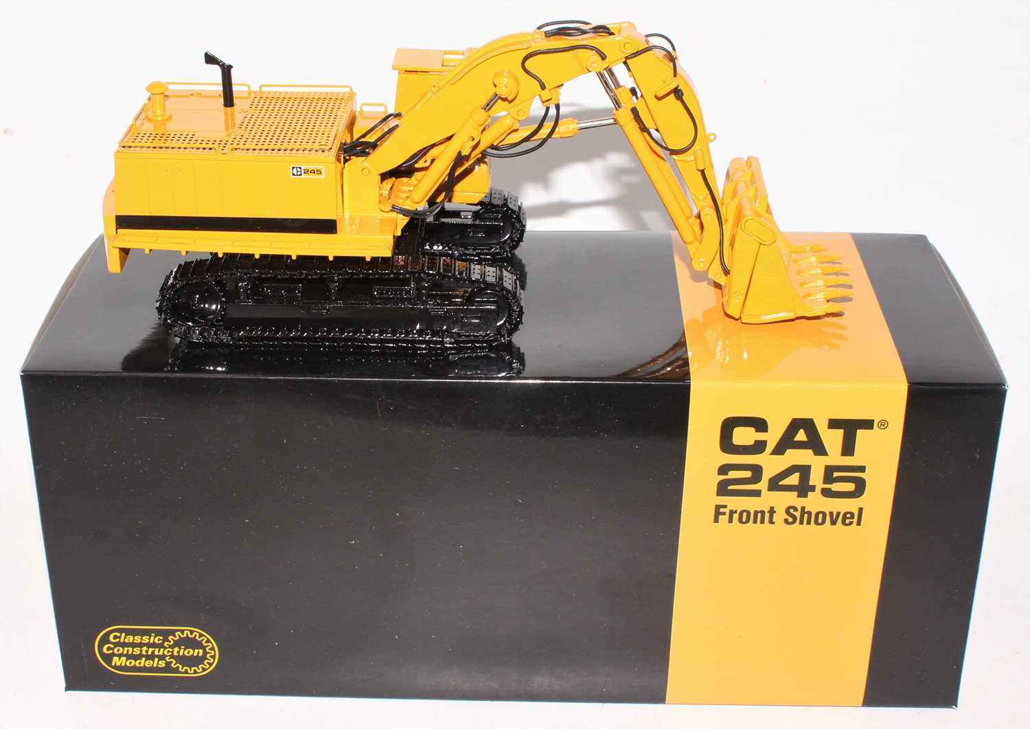 A Classic Construction Models (CCM) 1/48 scale precision diecast model of a Caterpillar 245 front