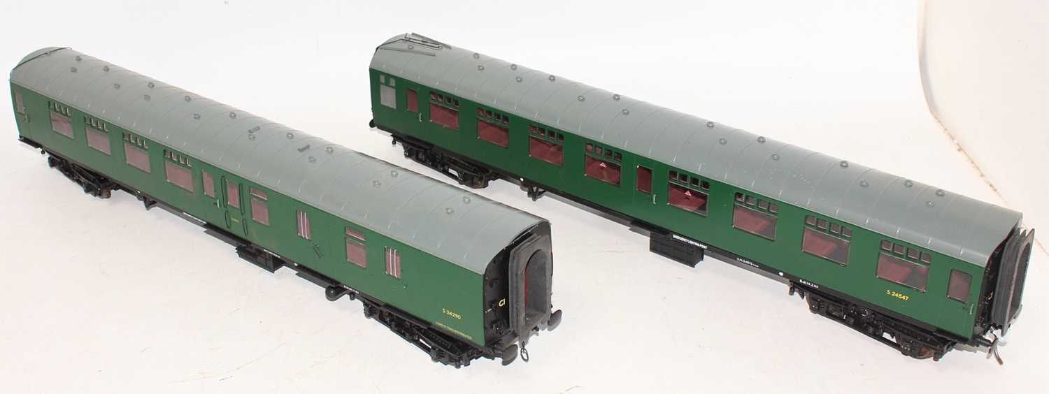 Gauge 1 Model Company coach group, 2 examples both Southern region to include S24547 and S34290, - Image 3 of 4