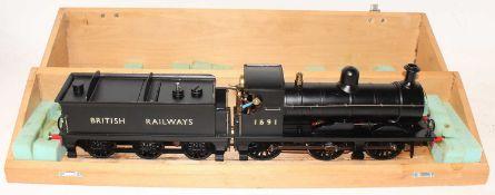 A very well engineered Gauge 1 Live Steam spirit fired model of a British Railways BR Black 0-6-0