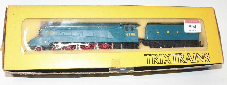 Trix 1190 4-6-2 A4 loco & tender Mallard 4468 2-rail tender driven (NM-BE)
