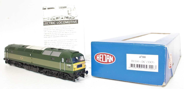A Heljan No. 4700 00 gauge model of a BR two tone green Class 47 diesel locomotive no. D1100 - Image 2 of 2