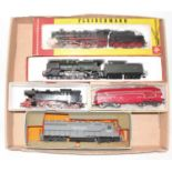 Five various boxed and loose H0 scale European and American Outline locomotives, to include a