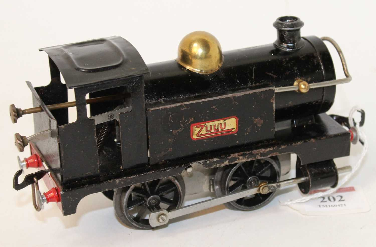 1922-3 No. 1 tank loco 'Zulu' plain black, rods painted silver, some dents and noticeable chips ( - Image 2 of 2