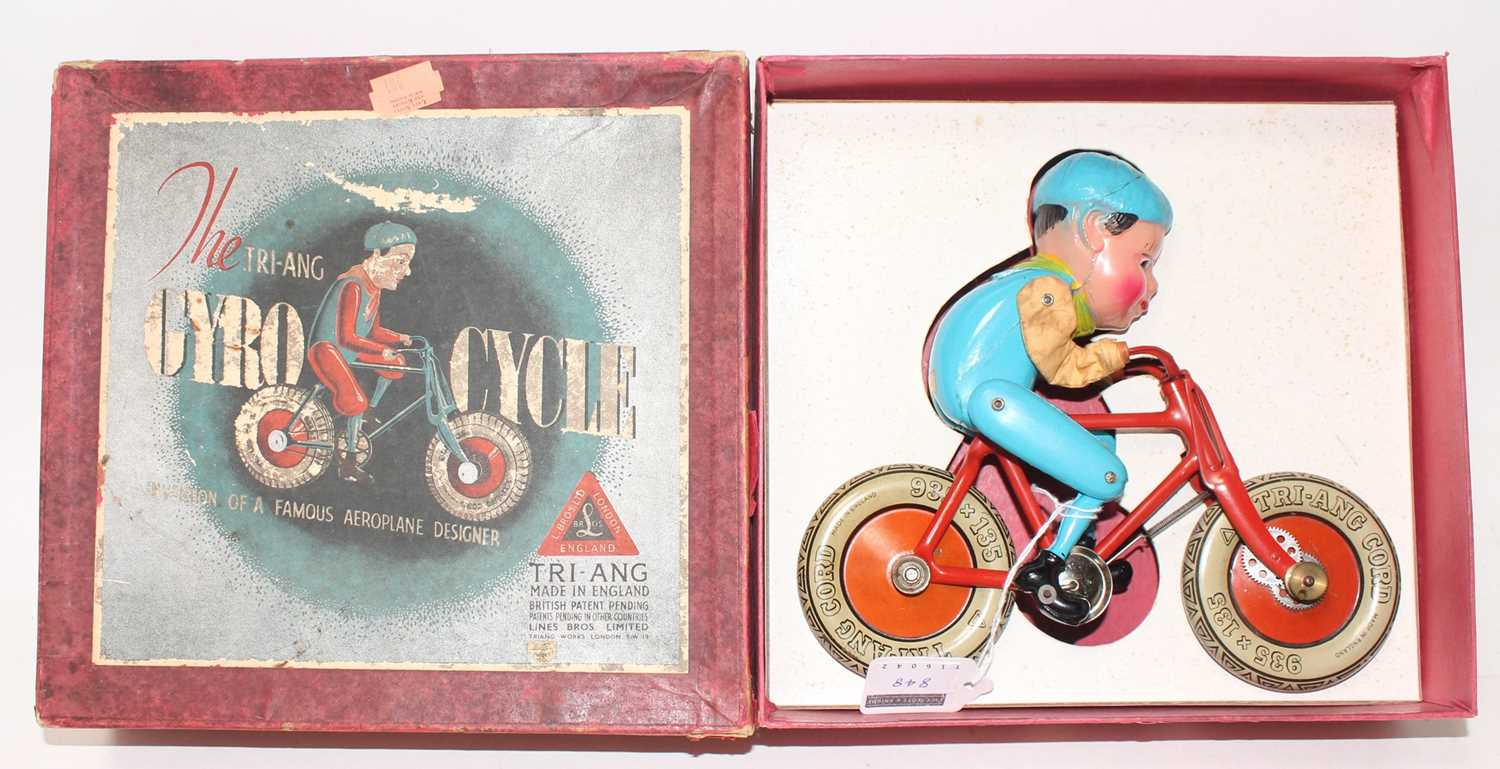 """A boxed """"Cyro Cycle"""" by Triang, complete with card insert, Cycle in very good to near mint"""