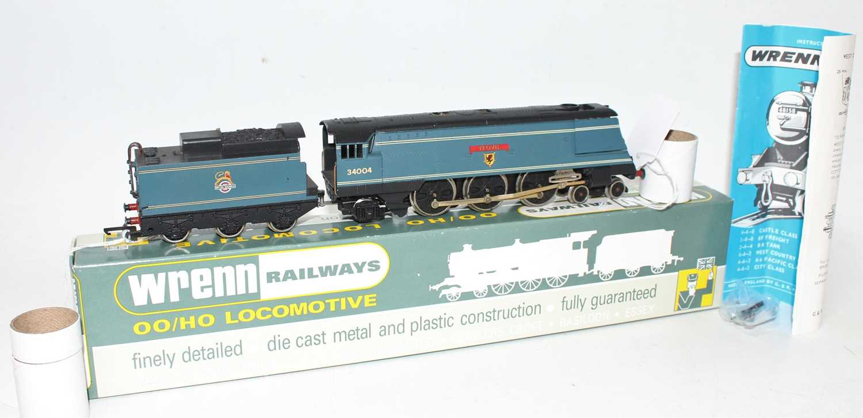 W2268 Wrenn SR Streamlined Bullied 4-6-2 loco & tender 'Yeovil' BR blue 34004, instructions (E-BNM). - Image 2 of 3