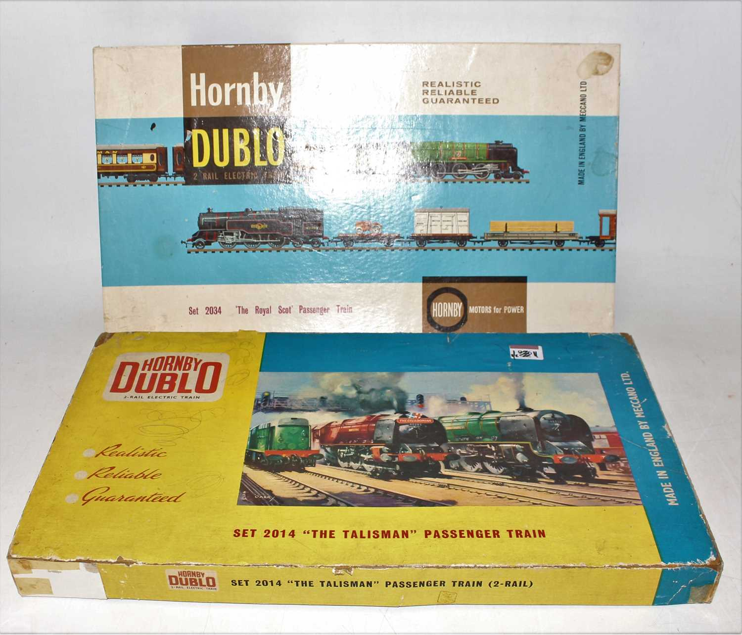 A Hornby Dublo mixed train group housed in incorrect original Hornby Dublo boxes, contents to