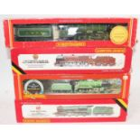Four various boxed Hornby Railways 00 gauge locomotives and tenders, to include a No. R357 Duke of