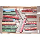 35 various loose 00 gauge Triang Hornby and similar passenger coaches and rolling stock to include a