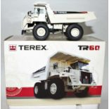 An NZG model No. 771 1/50 scale boxed model of a Terex TR60 rigid haul truck, finished in white, and