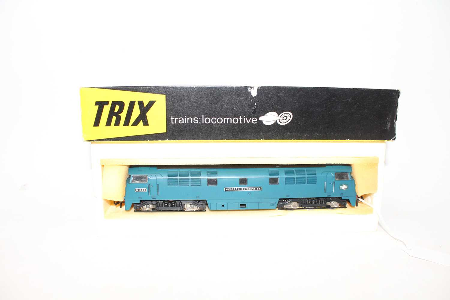 Trix diesel hydraulic loco D1000 'Western Enterprise' BR blue with yellow cab fronts, 2-rail (M-BG)