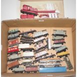 Approx. 30 unboxed Hornby Dublo mainly plastic wheel wagons (Overall G), with unboxed Dublo