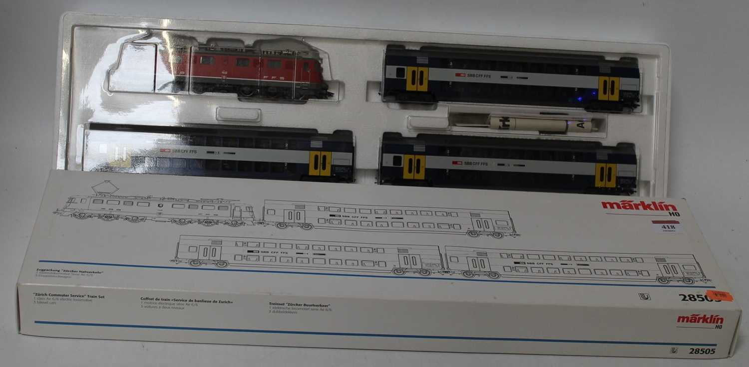 Marklin H0 catalogue ref 28505 red SBB-FFS Serie Ae 6/6 Co-Co electric locomotive believed DCC