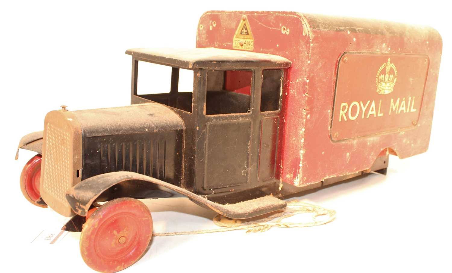 A Triang toys wooden and tinplate large scale model of a Royal Mail delivery van comprising of black - Image 2 of 3