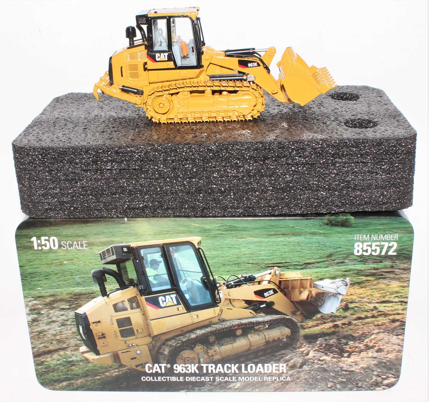 A diecast Masters Real Replicas Highline series Model No. 85572 1/50 scale model of a Caterpillar - Image 2 of 2