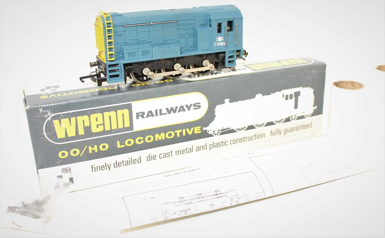 A Wrenn Railways No. W223 BR Blue 0-6-0 diesel shunter, powered example, housed in the original card