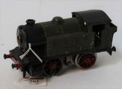 1928-9 Hornby No. 2 LNER 460 0-4-0 clockwork loco body fitted with 20volt electric motor, body