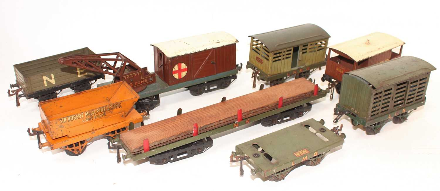 Hornby Wagons, all would benefit from cleaning to include 5x Open Axle Guard - LNER Cattle, LMS