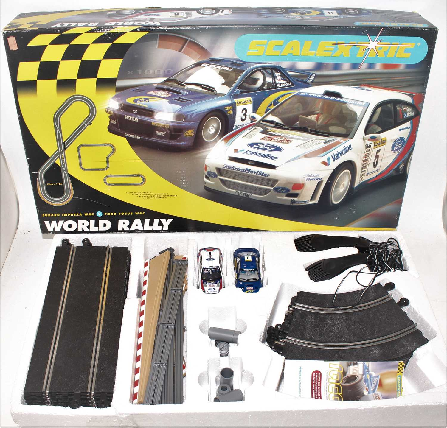 Three various boxed Carerra and Scalextric boxed slot car racing gift sets to include a Carerra - Image 4 of 4