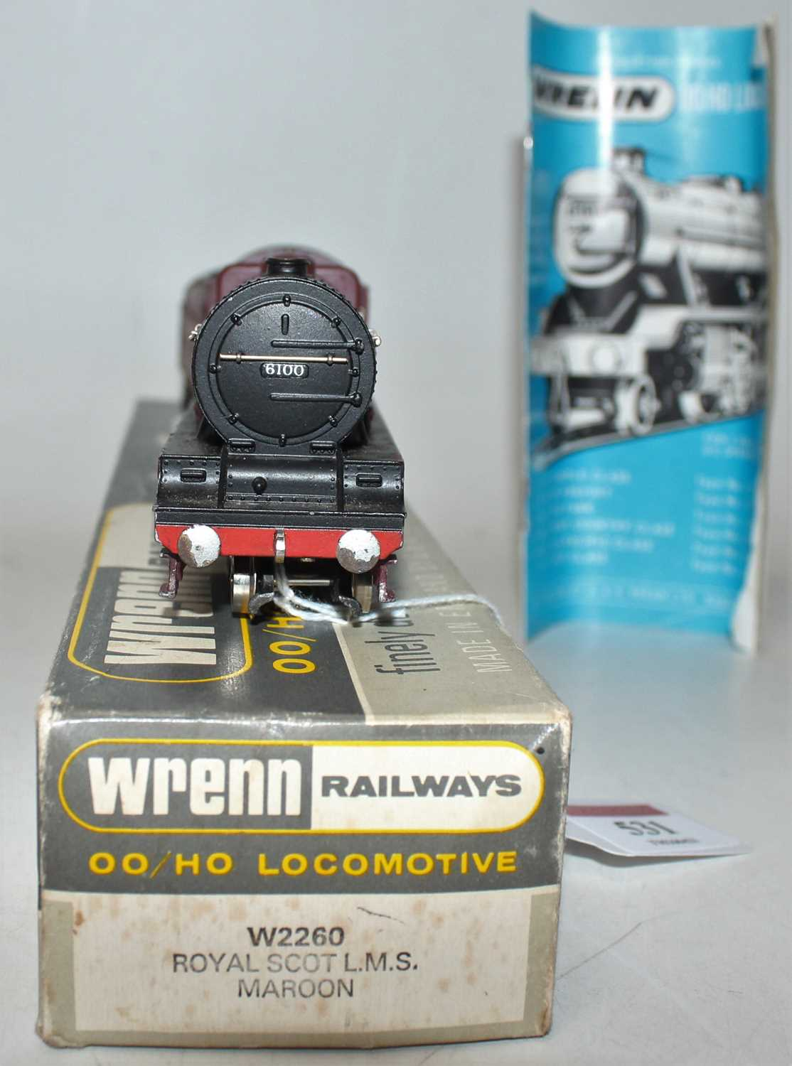 W2260 Wrenn loco & tender 'Royal Scot' 4-6-0 No.6100, LMS red, chips to cylinder covers, - Image 3 of 3