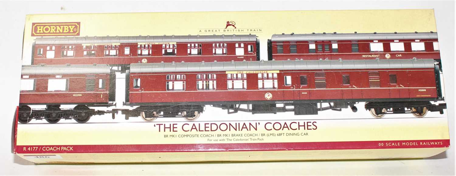 A Hornby Railways No. R4177 The Caledonian Coaches gift set, comprising of three various coaches