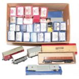 A varied selection of 32 Post war Hornby Dublo Wagons, of all types, mix of metal and plastic