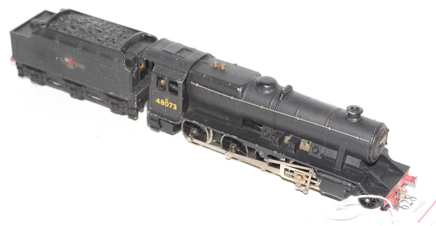 Hornby Dublo 2224 2-rail loco and tender 8F 2-8-0 Freight loco, BR Black 48073, ringfield motor, - Image 4 of 4