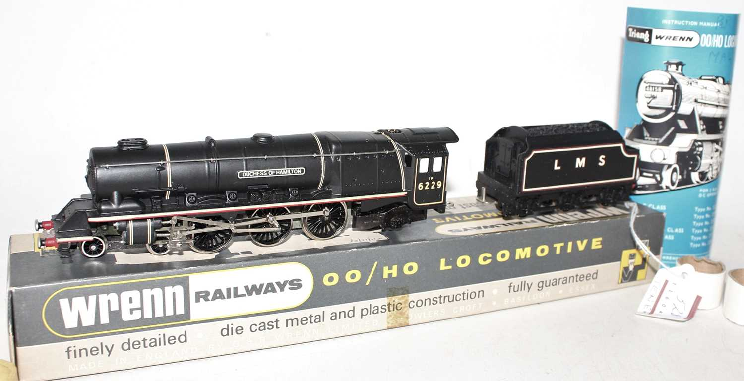 W2241 Wrenn loco & tender 'Duchess' class 4-6-2 'Duchess of Hamilton' LMS black 6229, without
