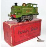 Hornby 1928 No.1 Tank Clockwork loco 0-4-0 LNER Green No.463, brass dome, green smokebox, two