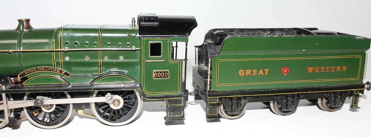 """Marklin for Bassett-Lowke O Gauge 4-6-0 Loco and Tender Great Western green """"King George V"""" No.6000, - Image 5 of 15"""